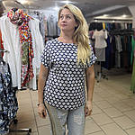 Блуза женская хлопок штапель 48-54 ментол с разрезами по бокам бл 017-7, фото 5