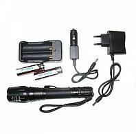 Тактический аккумуляторный фонарь с зумом Bailong Bl-8668-t6, фото 1