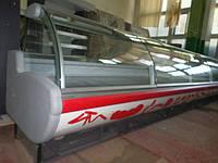 Холодильная витрина холодильная камера ARNEG -6,6 метра, Италия гастрономическая витрина.