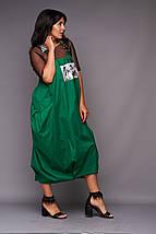 """Летний женский костюм-двойка """"SPECIAL YOU"""" с футболкой и сарафаном (большие размеры), фото 3"""
