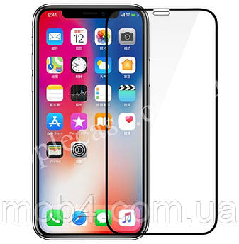 Захисне скло 3D для Apple iPhone XS (чорне)