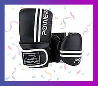Снарядные перчатки PowerPlay 3025 Чорно-Білі M