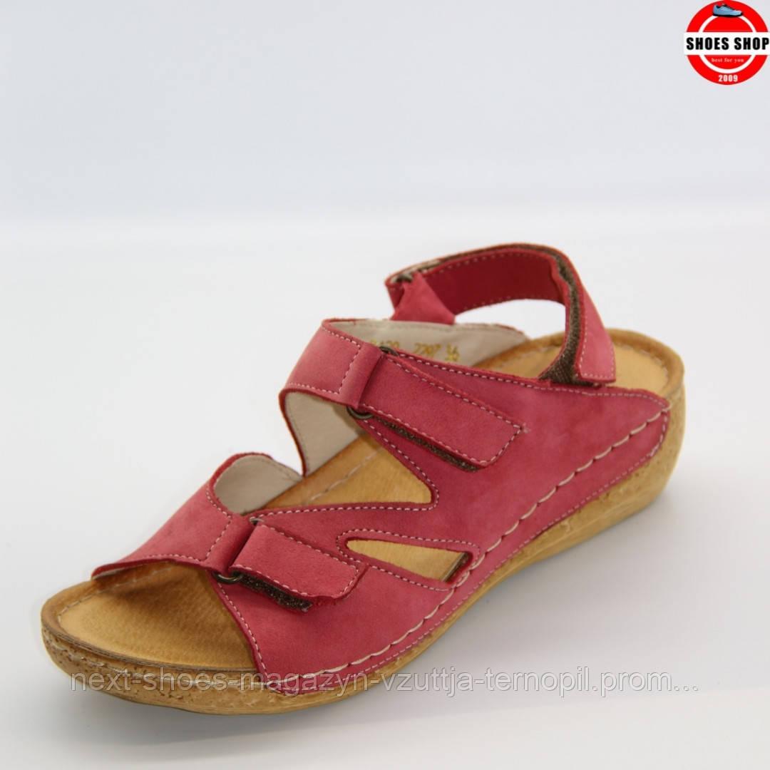 Сандалі жіночі WOSAK (Польща) червоного кольору. Зручні та яскраві. Клієнти називають їх - Дженніфер Лоуренс