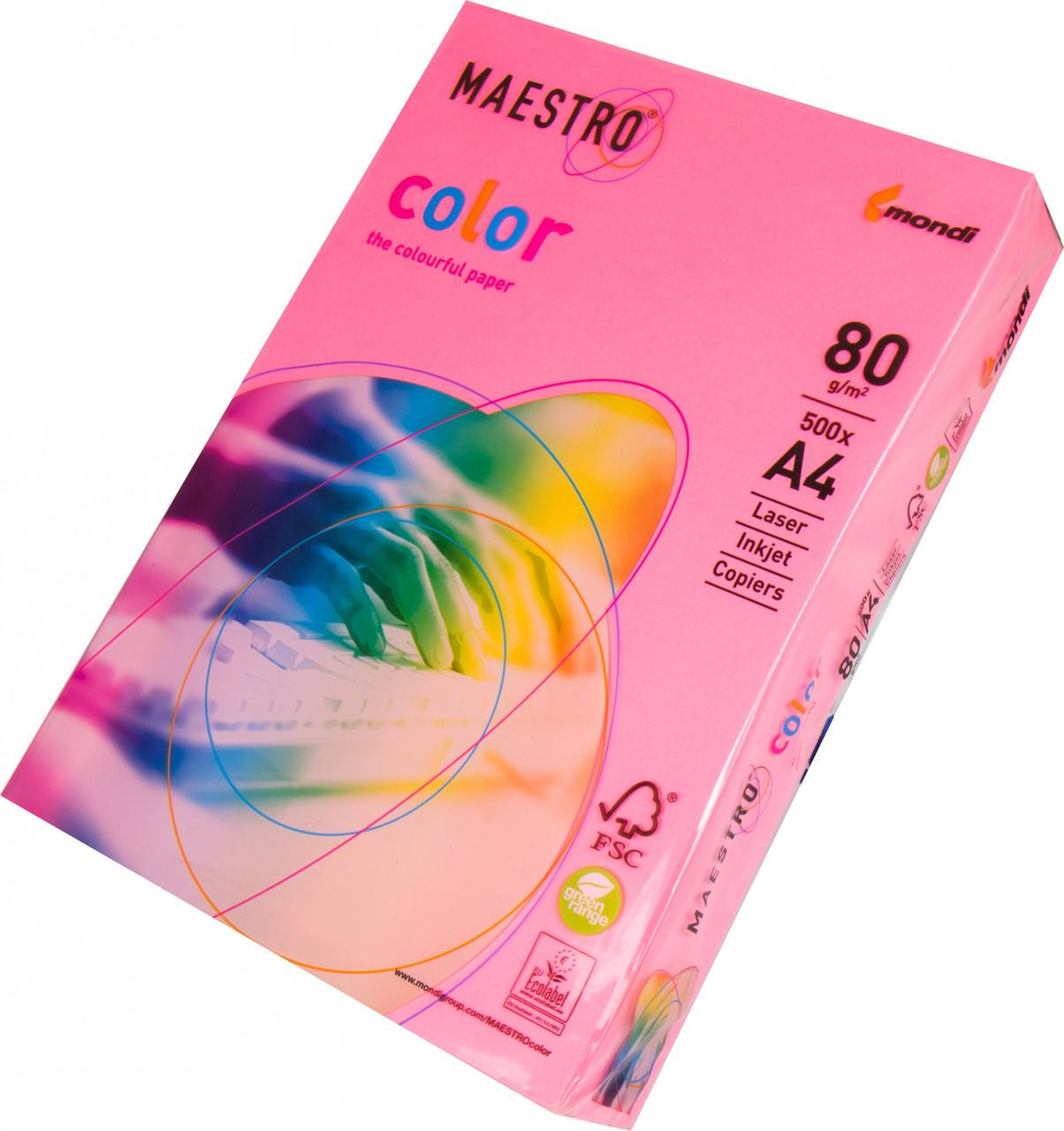 Бумага А4 Maestro Color Neon Pink (розовый)