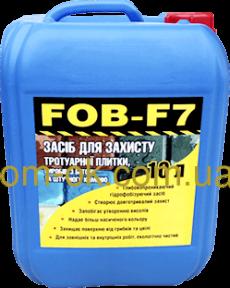 Гидрофобизатор водоотталкивающая пропитка от влаги FOB-F7 - для тротуарной плитки, бетона, камня, кирпича Емкость 10 л