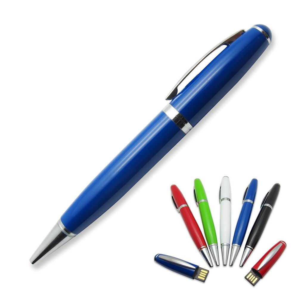 Флешка-ручка Classic синяя под логотип 16 Гб (1122-3-16-Гб)
