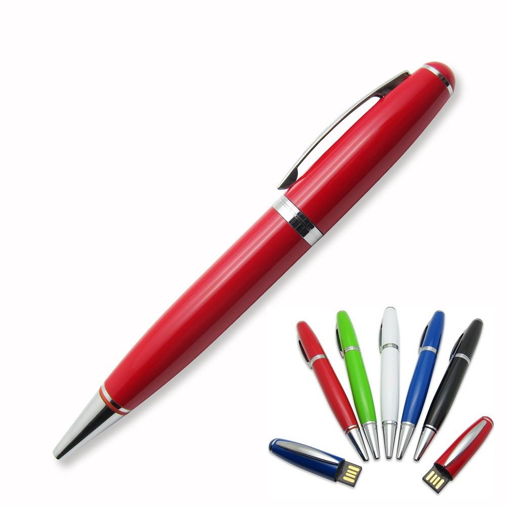 Флешка-ручка Classic червона з печаткою 32 Гб (1122-4-32-Гб)