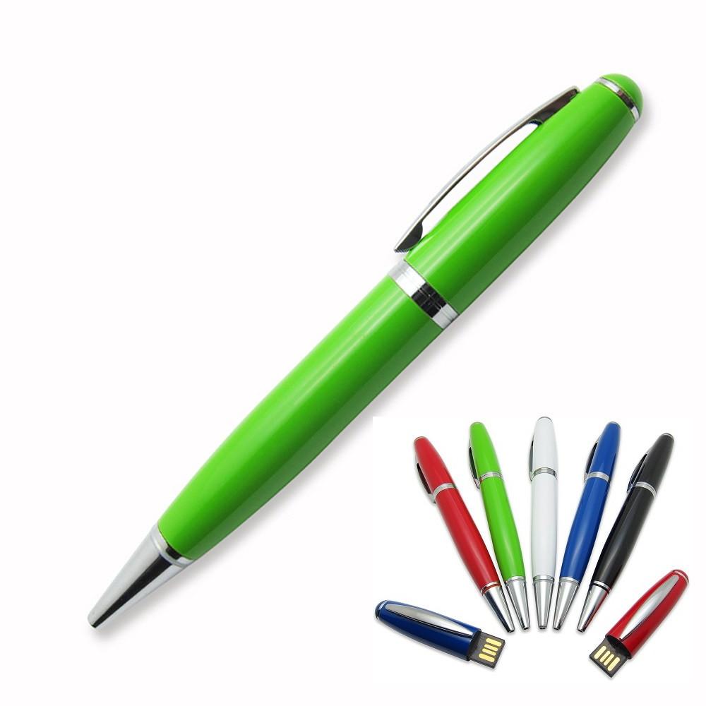 Флешка-ручка Classic зеленая для нанесения лого 4 Гб (1122-5-4-Гб)
