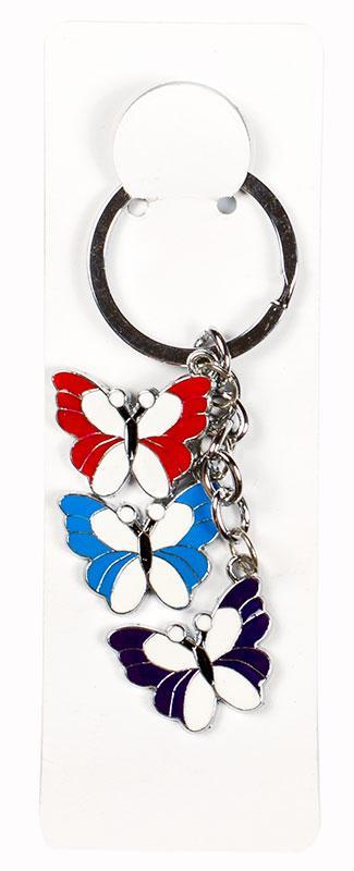 Брелок металлический Бабочки 3 штуки