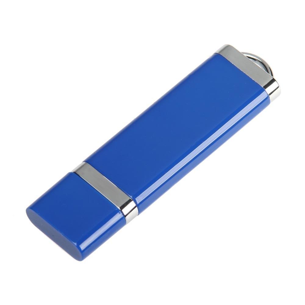 """Флешка """"ТОР"""" пластиковая под печать синяя 64 Гб (0707-1-64-Гб)"""