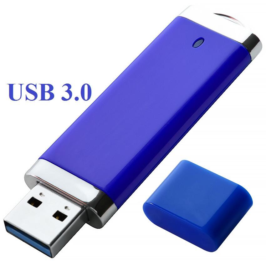 """Флешка 3.0 """"ТОР"""" пластиковая синяя под нанесение 16 Гб (0707-1-3.0-16-Гб)"""
