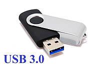 """Флешка 3.0 """"Твистер"""" пластиковая черная под печать 32 Гб (0801-3-3.0-32-Гб), фото 1"""