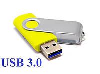 """Флешка 3.0 """"Твистер"""" пластиковая желтая под нанесение 16 Гб (0801-5-3.0-16-Гб), фото 1"""