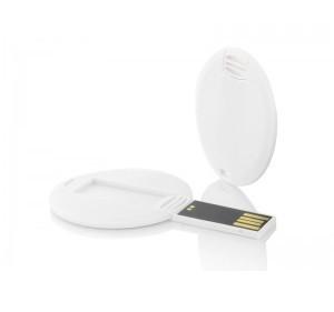 Флешка-карточка круглая с уф-печатью 64 Гб (1018-64-Гб)