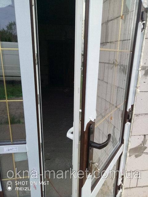 Ламинированные пластиковые входные двери - монтаж бригады 9