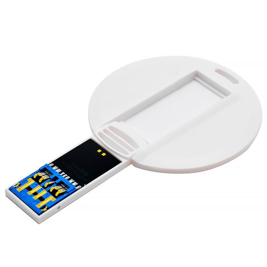 Флешка-карточка круглая 3.0 под печать 16 Гб (1018-3.0-16-Гб)