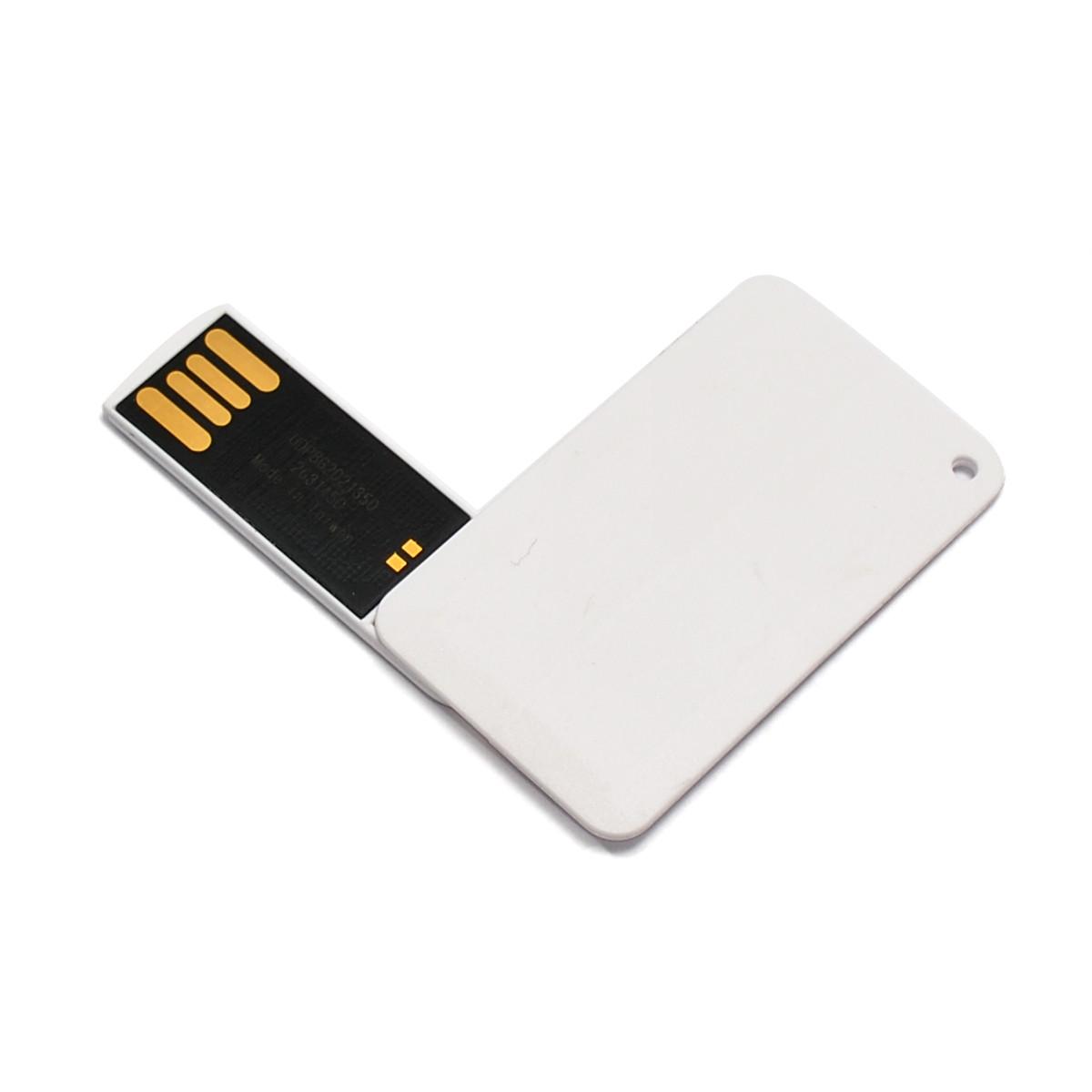 Флешка-карточка мини поворотная с уф-печатью 4 Гб (1031-4-Гб)