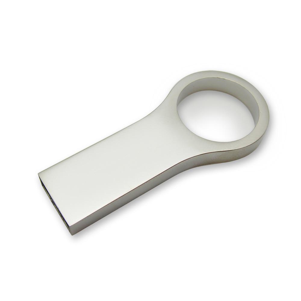 Флешка металл матовый серебро с нанесением 8 Гб (0495-1-8-Гб)