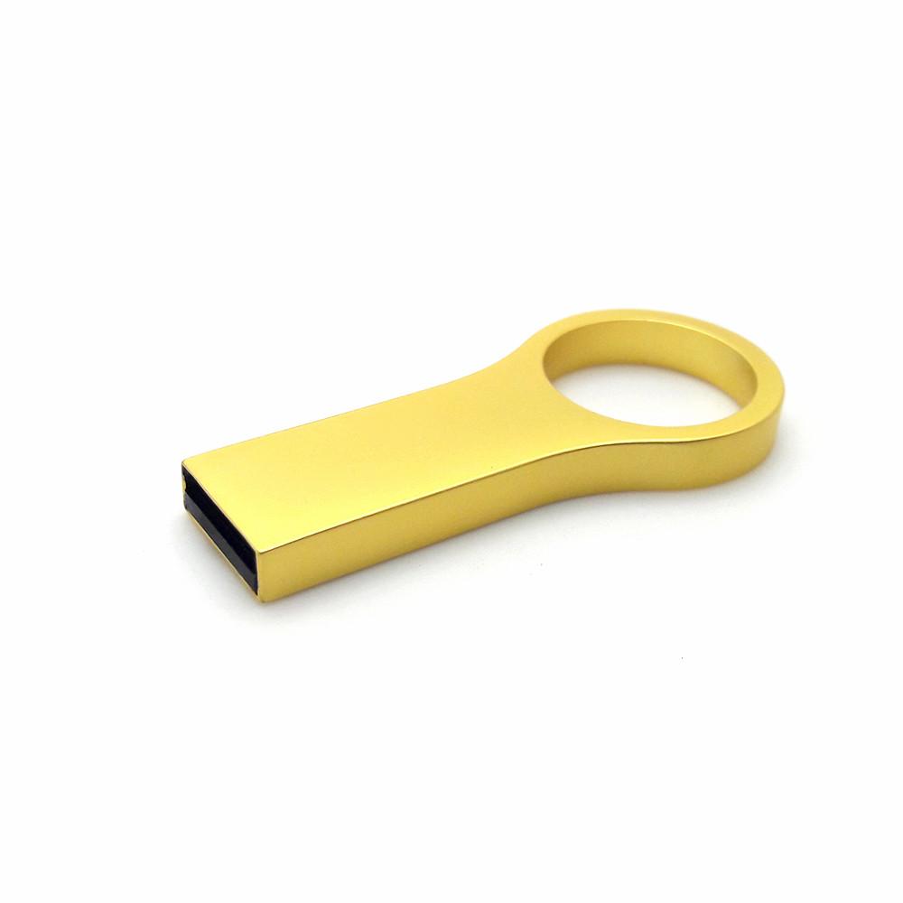 Флешка с логотипом металл матовый золото 16 Гб (0495-3-16-Гб)