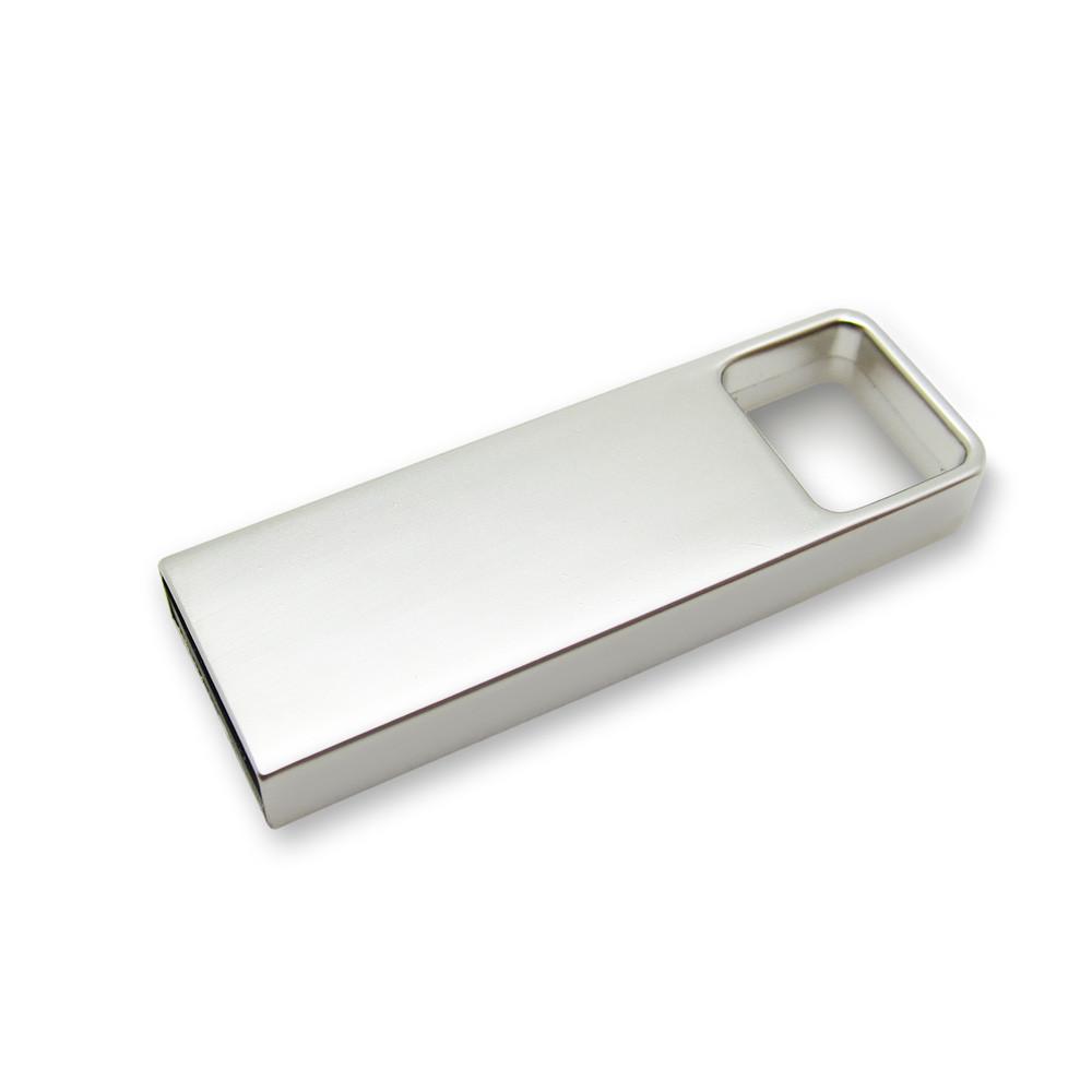 Флешка металлическая матовая серебро с логотипом 16 Гб (0496-1-16-Гб), фото 1