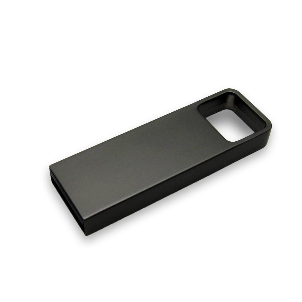 Флешка металл темно-серая с логотипом 16 Гб (0496-2-16-Гб)