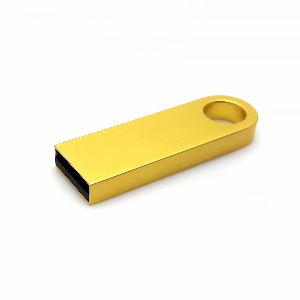 Флешка металлическая золото с логотипом 16 Гб (0497-3-16-Гб)