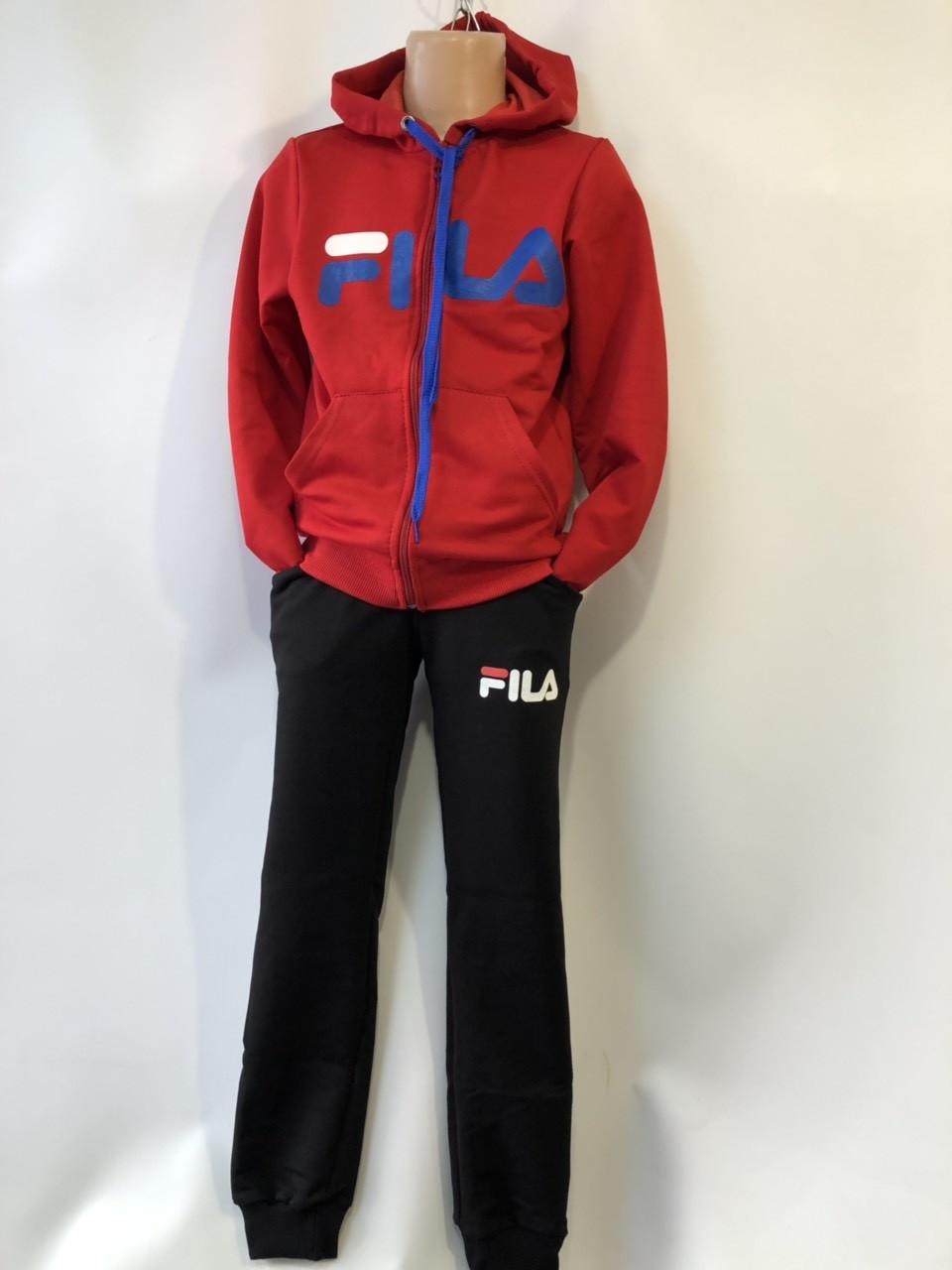 Спортивный костюм для девочки Fils р.6-10 лет опт (реплика) красный+черный