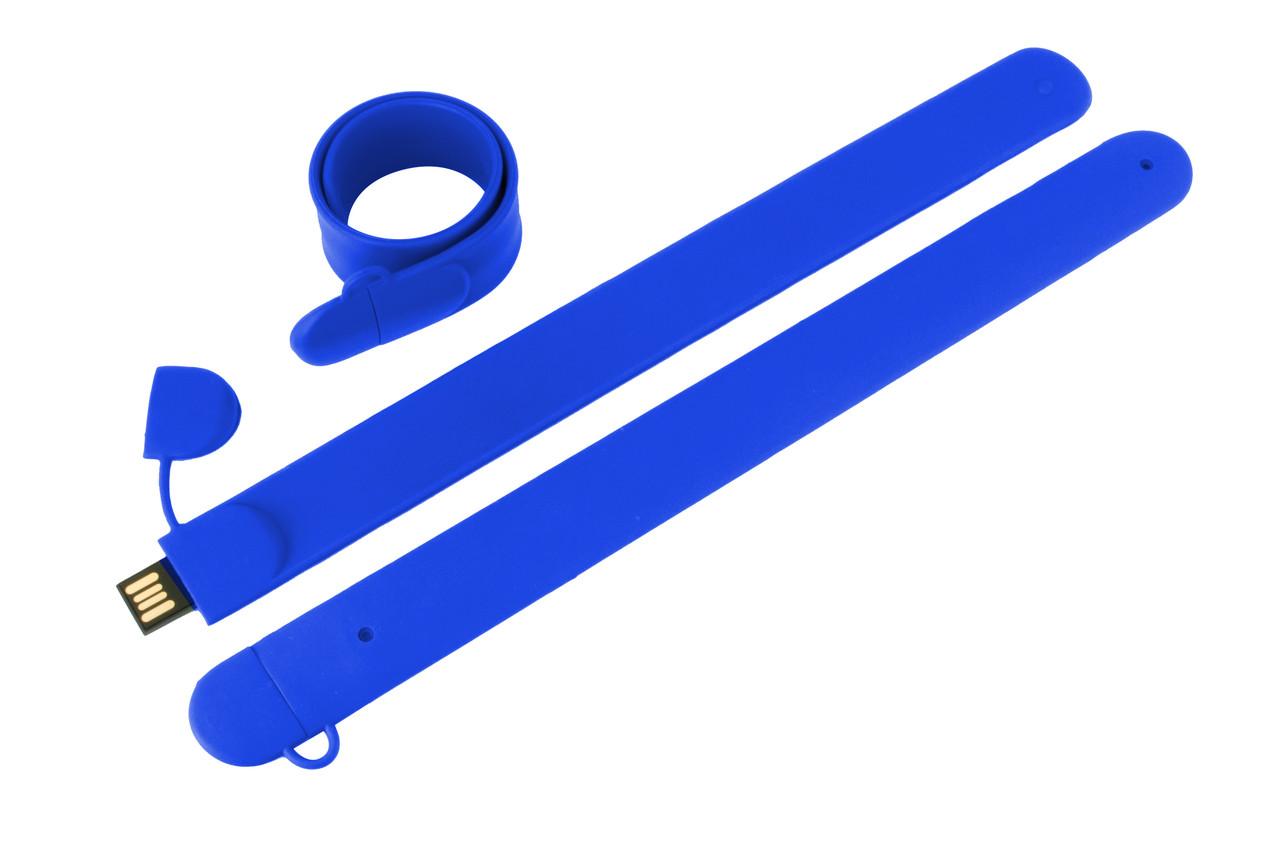Флешка браслет для шелкотрафарета синяя 32 Гб (0993-3-32-Гб)