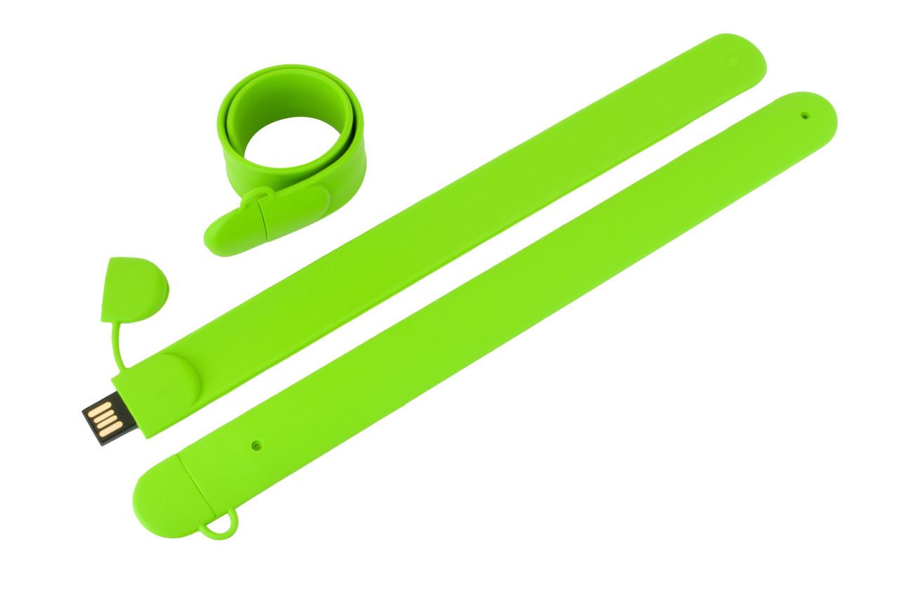 Флешка-браслет под нанесение зеленая 8 Гб (0993-5-8-Гб)