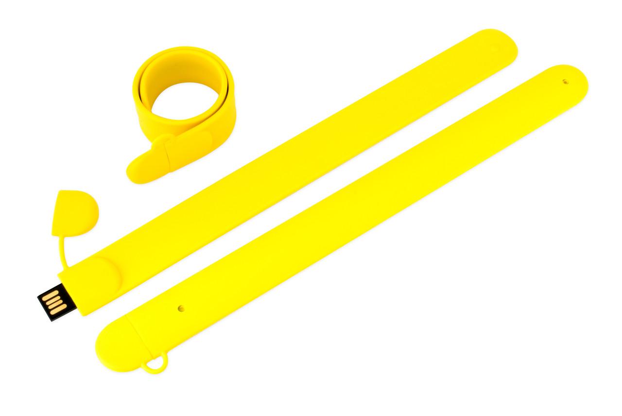 Флешка в виде браслета под логотип желтая 64 Гб (0993-7-64-Гб)