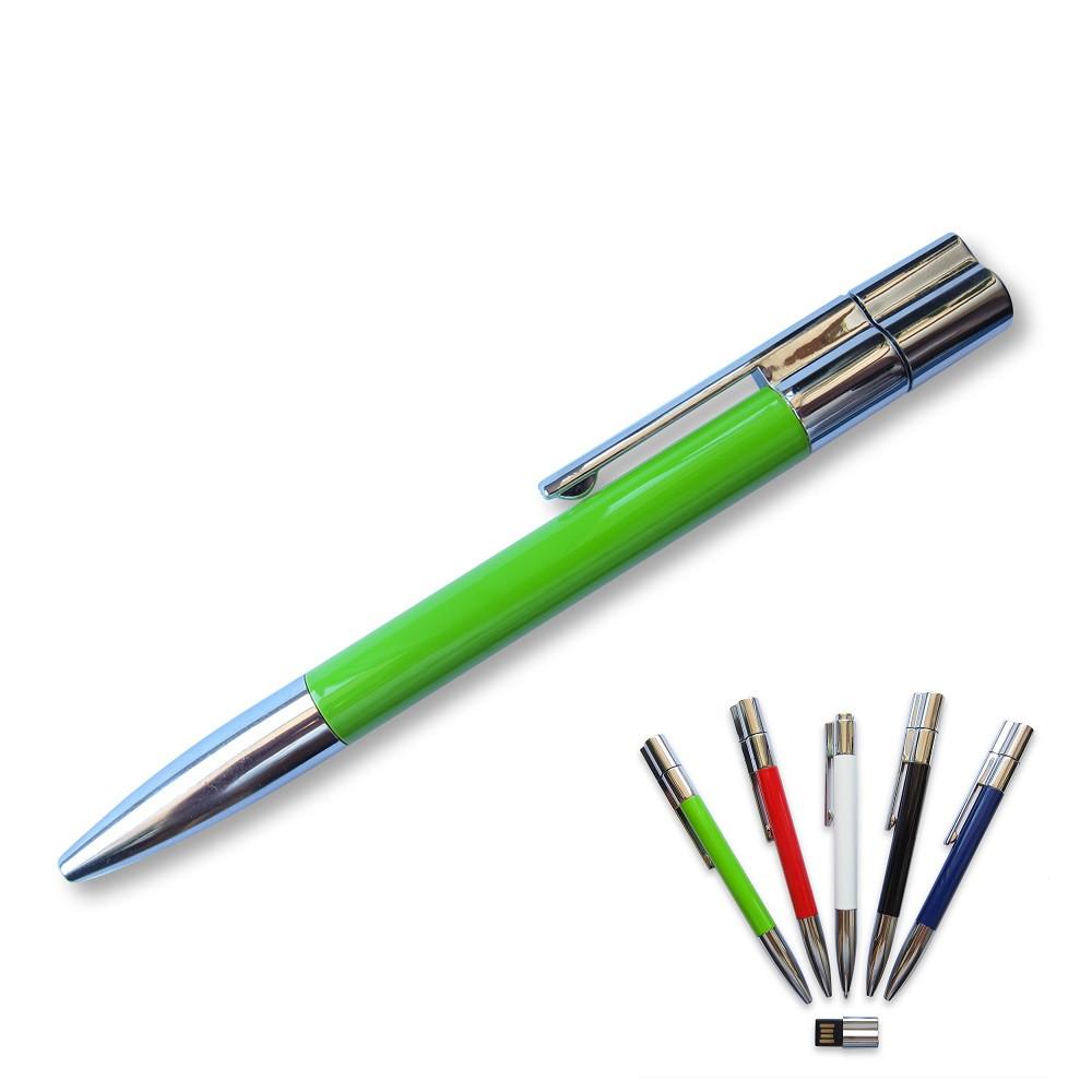 Флешка-ручка Neo зеленая под логотип 16 Гб (1133-5-16-Гб)