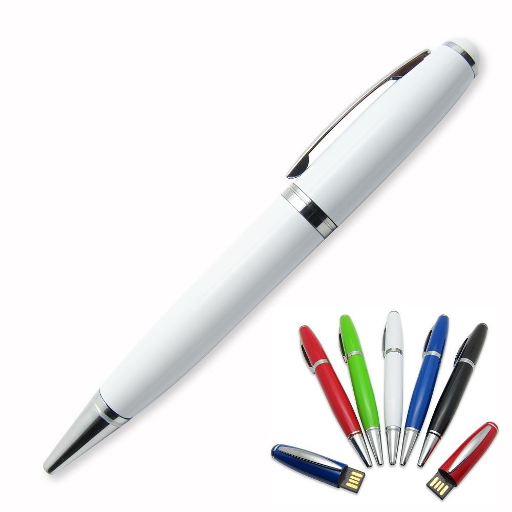 Флешка-ручка Classic белая с гравировкой 32 Гб (1122-1-32-Гб), фото 1