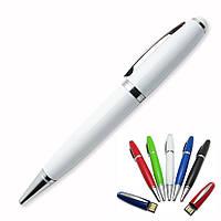 Флешка-ручка Classic белая под гравировку 64 Гб (1122-1-64-Гб), фото 1