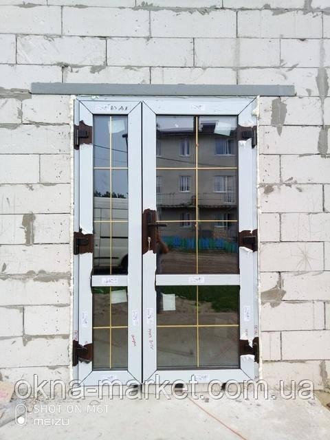 Ламинированные пластиковые входные двери - монтажная бригада 9