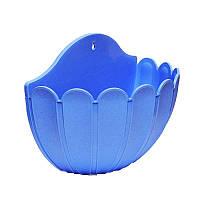 Горшок цветочный настенный Марго 25х12,5х20 см синий 1,8 л , Украина
