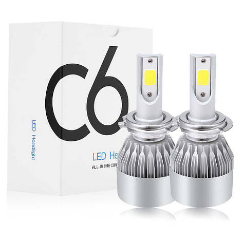 Комплект LED ламп C6 в туманки 9006, фото 2