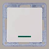 Выключатель с подсветкой крем (без рамки) TESLA, фото 2