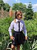 """Нарядная детская рубашка для девочки """"SHINE"""" с пайетками и длинным рукавом (2 цвета), фото 4"""
