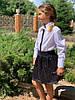 """Нарядная детская рубашка для девочки """"SHINE"""" с пайетками и длинным рукавом (2 цвета), фото 5"""