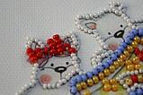 Набір-магніт для вишивки бісером«Маленькі бешкетники»,8*7см,, фото 3