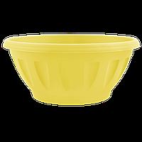 Горшок цветочный Жанна 24х11 см желтый 2,6 л , Украина
