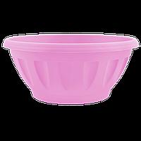 Горшок цветочный Жанна 12х6 см розовый 0,3 л , Украина