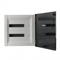 Practibox³ Пластиковий щит вбудований 2x18 модулів прозорі двері