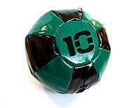 Медбол 10 кг черно-зеленый, фото 1
