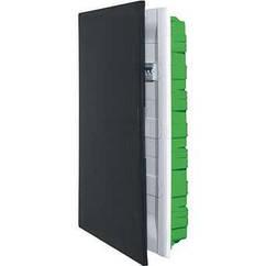 Practibox³ Пластиковий щит вбудований 3x18 модулів прозорі двері