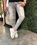Чоловічі весняні джинси рвані світлі. Живе фото, фото 2