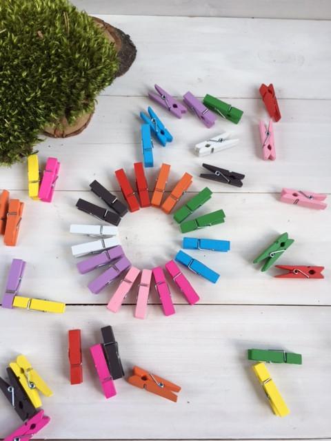 Набор цветных прищепок 3,5 см * 0,7 см ( 50 шт )