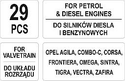 Набор фиксаторов ГРС дизельных и бензиновых двигателей YATO YT-06007, фото 3