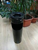 Урна -пепельница, металл окрашенный на 15 литров чёрная
