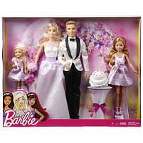 Набор кукол Свадьба Барби / Barbie I Can Be A Bride Wedding Day 4 Pack, фото 6